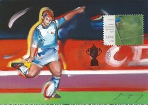 2007 - Carte Maximum 1er Jour - Timbre Lenticulaire Rugby