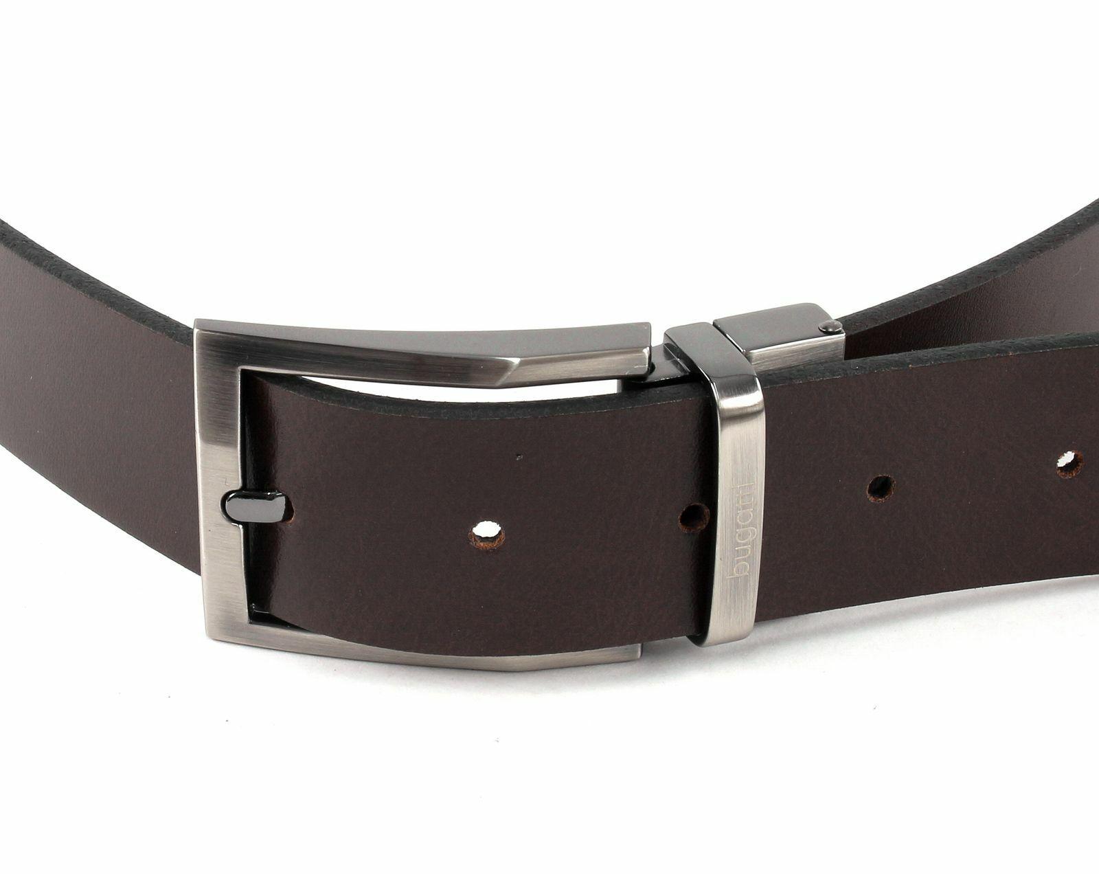 Bugatti Reversible Belt w80 Belt Leather Belt Reversible Belt Black Dark Brown