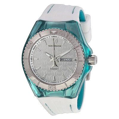 Technomarine Silver Dial White Silicone Unisex Watch 113035