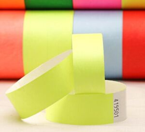 1-000-PLAIN-25m-TYVEK-WRISTBANDS-SUPPLIED-IN-PAIRS-17-COLOURS