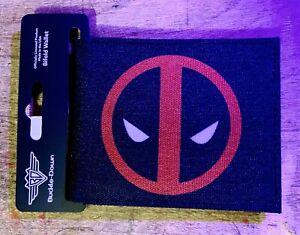 Deadpool-Wallet-Marvel-Comics-X-Man-Red-Icon-Bifold-Black-PU-Buckle-Down