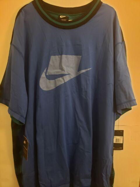 Nike Sportswear Mens 3xl-T NSW NSP Plaid & Blue T-Shirt BV4544-480 NWT