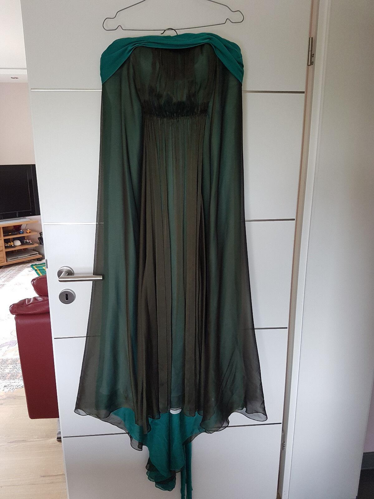 Abendkleid Festkleid Ball Damen Frauen Größe 38 grün Dekolté schön