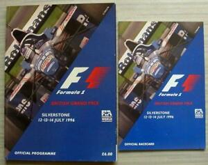 BRITISH-GRAND-PRIX-FORMULA-1-1996-SILVERSTONE-F1-Official-Race-Programme