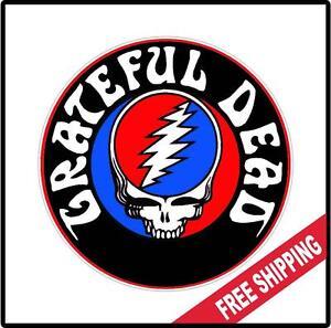 Grateful Dead Hippie Vinyl Wall Logo Decal Sticker Icon