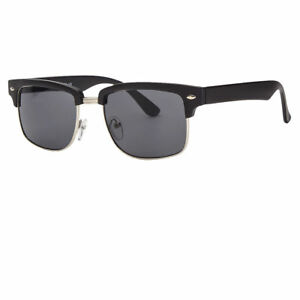 41cf38cfa2 Details about Vintage Inspired Classic Half Frame Semi-Rimless Square Circle  Sunglasses Funky