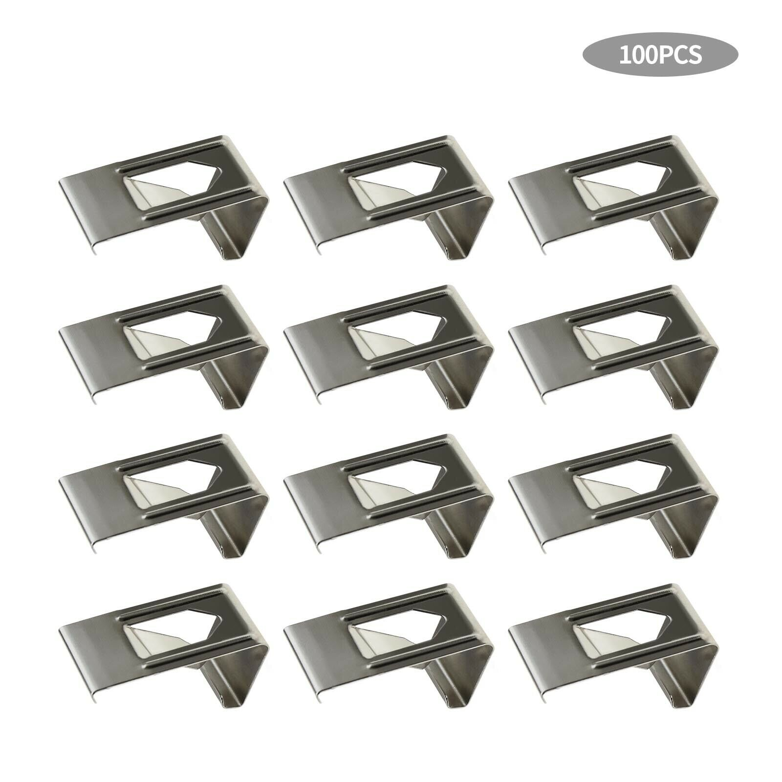 100Pcs Silver Spring Turn Clips Holders for 3D Printer Heated Bed Fixation