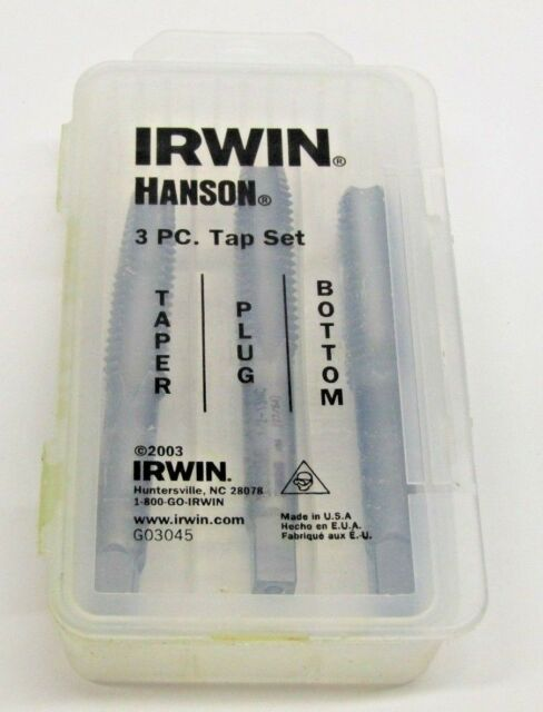 Irwin Tools 2644-3 Piece High Carbon Steel Tap 1//2-13 NC