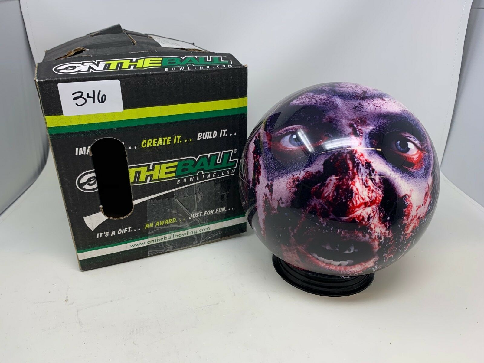 New OTB The Bowling Ball Factory Zombie 6Bowling Ball Viz-a-Ball (346)