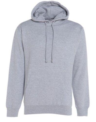 Men Fleece Plain Hoodie Sweatshirt Hooded Pull Over Casual Gym Adult Top S-2XL