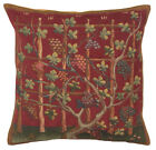Automne II French Cushion, A - H 18 x W 18(Cushion Cover) , Red