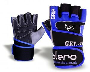 ISLERO-Leather-Weightlifting-Gloves-Gym-Straps-Wrist-Support-Wraps-Wheelchair-UX