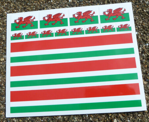 Vélo de Route Cycle Welsh Drapeau Frame decals stickers