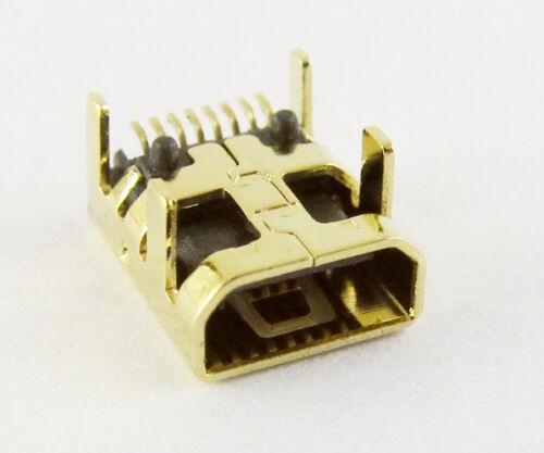 Oro B Tipo Mini Usb 8pin conector Jack Hembra Smt Zócalo Para Digital 10 un