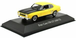 MAG-KC01-FORD-CAPRI-Mk-I-1700-GT-model-road-car-yellow-black-1969-1972-1-43rd