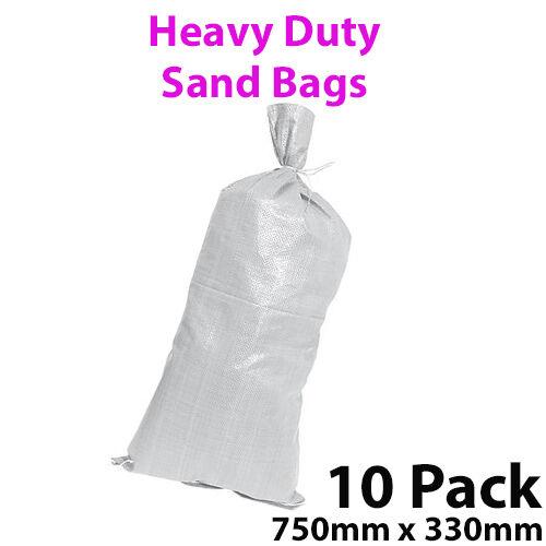 750 mm x 330 mm 80GSM Gravier Jardin Paysage de déchets Pack 10 Sable Sac//sacs