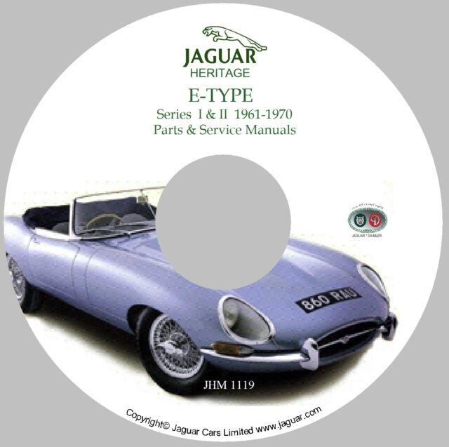 Jaguar XKE (Series I U0026 II) E Type Workshop Parts And Service Manual