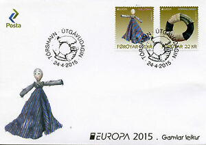 Faroe Islands Faroes 2015 FDC Europa Old Toys 2v Set Cover Dolls