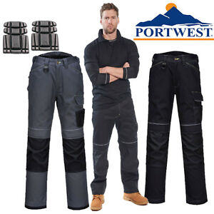 attractive & durable real quality amazing selection Details about Portwest T601 Urban Multi Pockets Polycotton Cargo Work  Trousers With Knee Pad