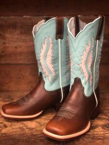 4bb0808e421 Details about Ariat Women's Solana VentTEK Brown Patina Square Toe Western  Boots 10027378