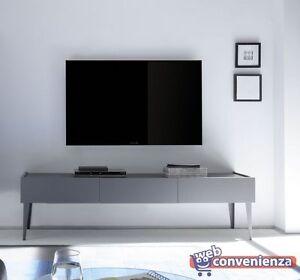 Rex Base porta tv 3 cassetti grigio opaco con piedi in tinta | eBay