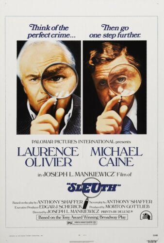 SLEUTH 1972 MOVIE POSTER FILM A4 A3 A2 PRINT ART CINEMA