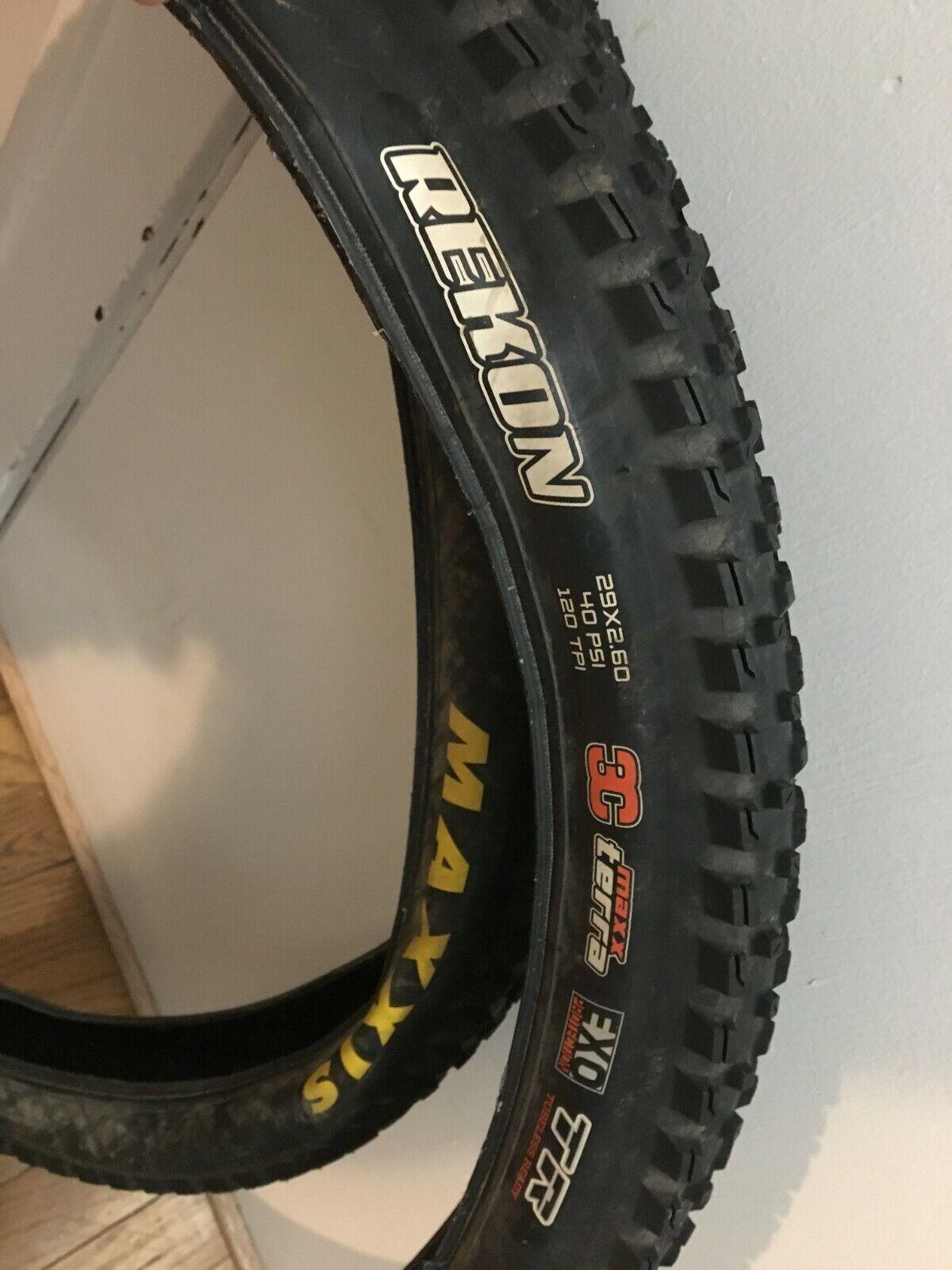 Two Maxxis Rekon 29 x2.6  3C EXO TR Tire Pair