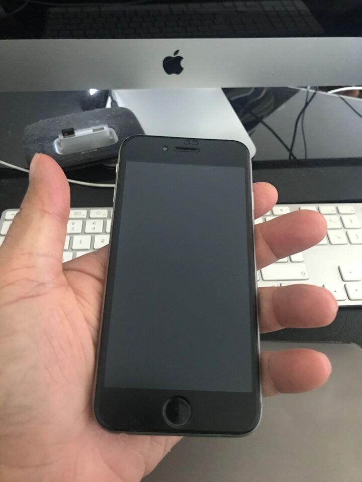 iPhone 6, 64 GB, sort