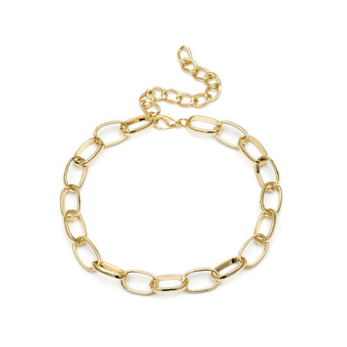 Vintage Chunky Chain Bib Statement Choker Necklace Women Charm Jewelry Gift HK