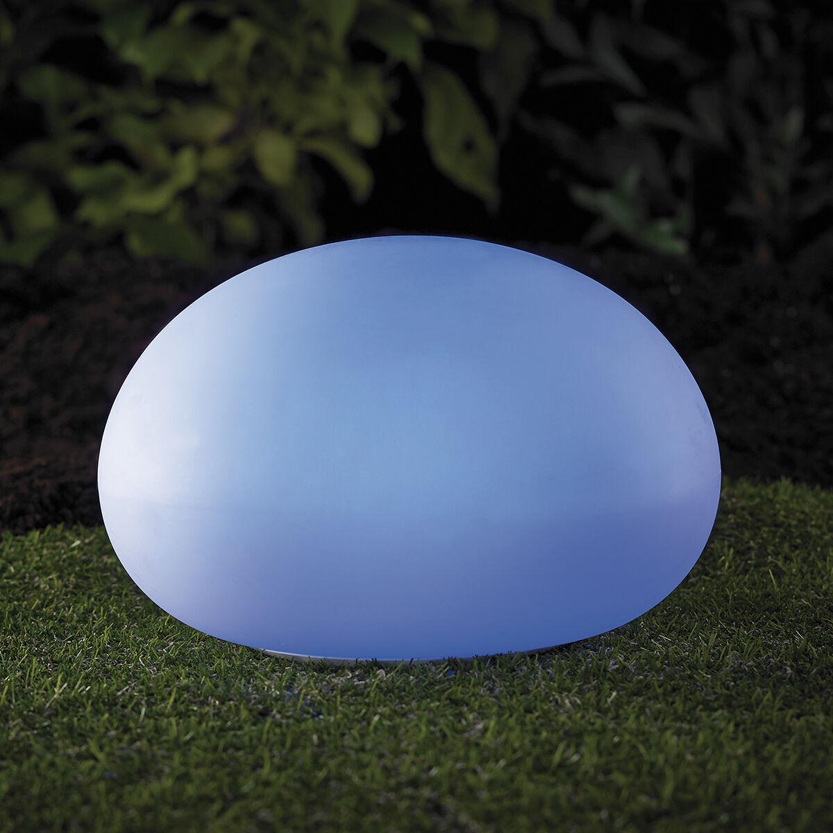 2 Piezas XL Bola de Jardín 35cm Solar Decoración Luz Cambio Color RGB LK02