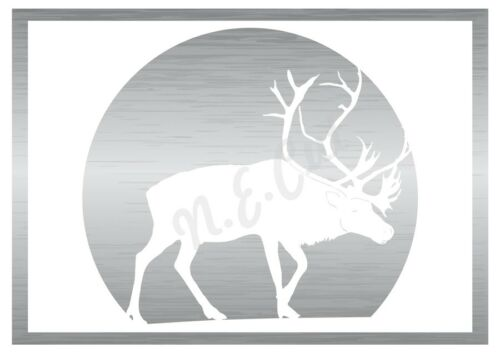 Christmas Feeding Rein Deer stencil A5 to A0 14cm to1.2 meters or bigger CMAS101