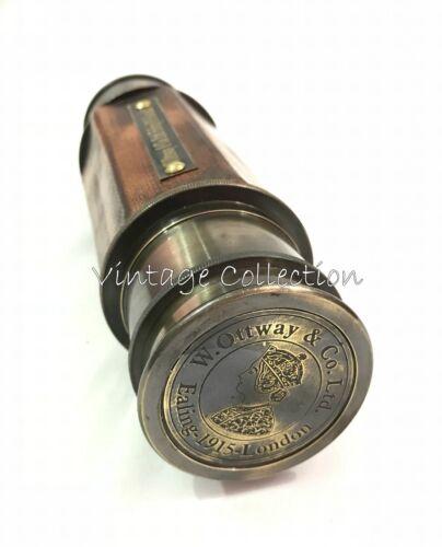 "24/"" Antique Maritime Brass Leather Telescope Vintage Marine Spyglass Scope"