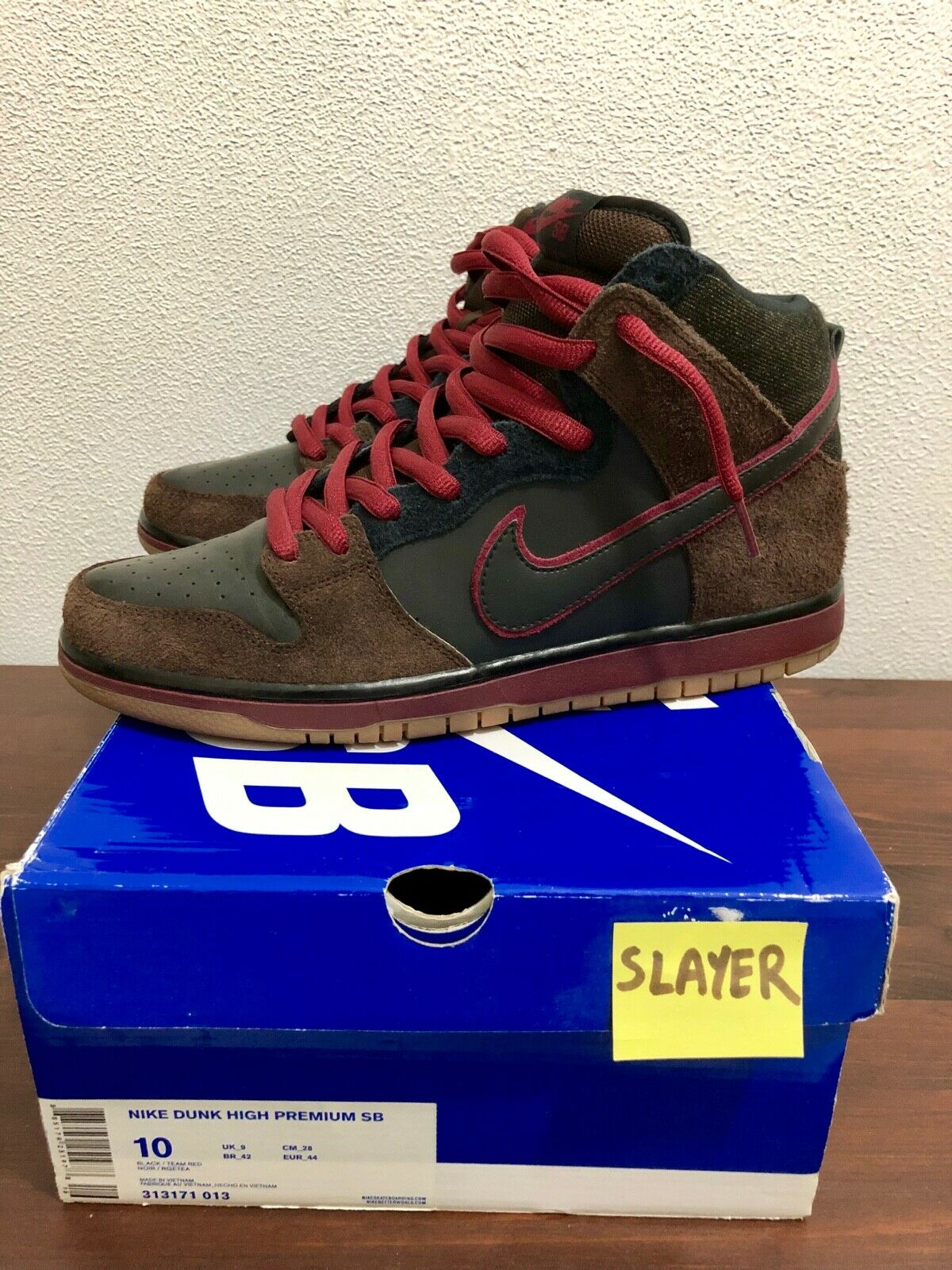 Nike Dunk High SB x Brooklyn Projects Slayer Reign in Blood US 10 313171 013 666