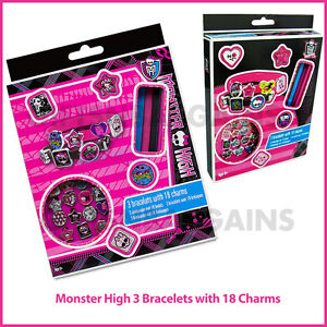 Beads & Jewelry Making Bracelets 3 Bracelets 18 Breloques Monster High Spare No Cost At Any Cost