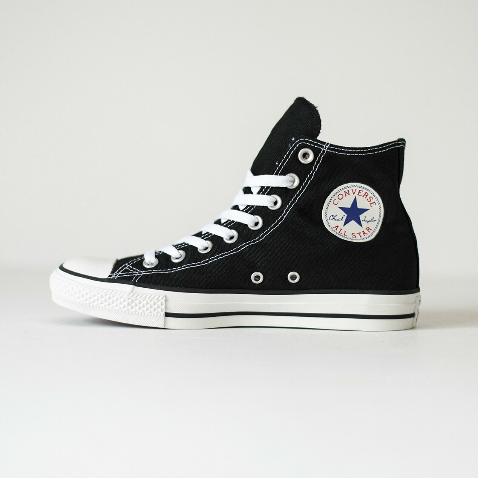 Converse All Star Hi Top Black White Canvas Chuck Taylor M9160 100% Original