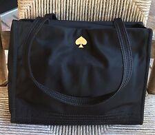 Kate Spade BLACK Nylon TOTE Satchel Shoulder Bag  Purse w/ Polka Dots Inside