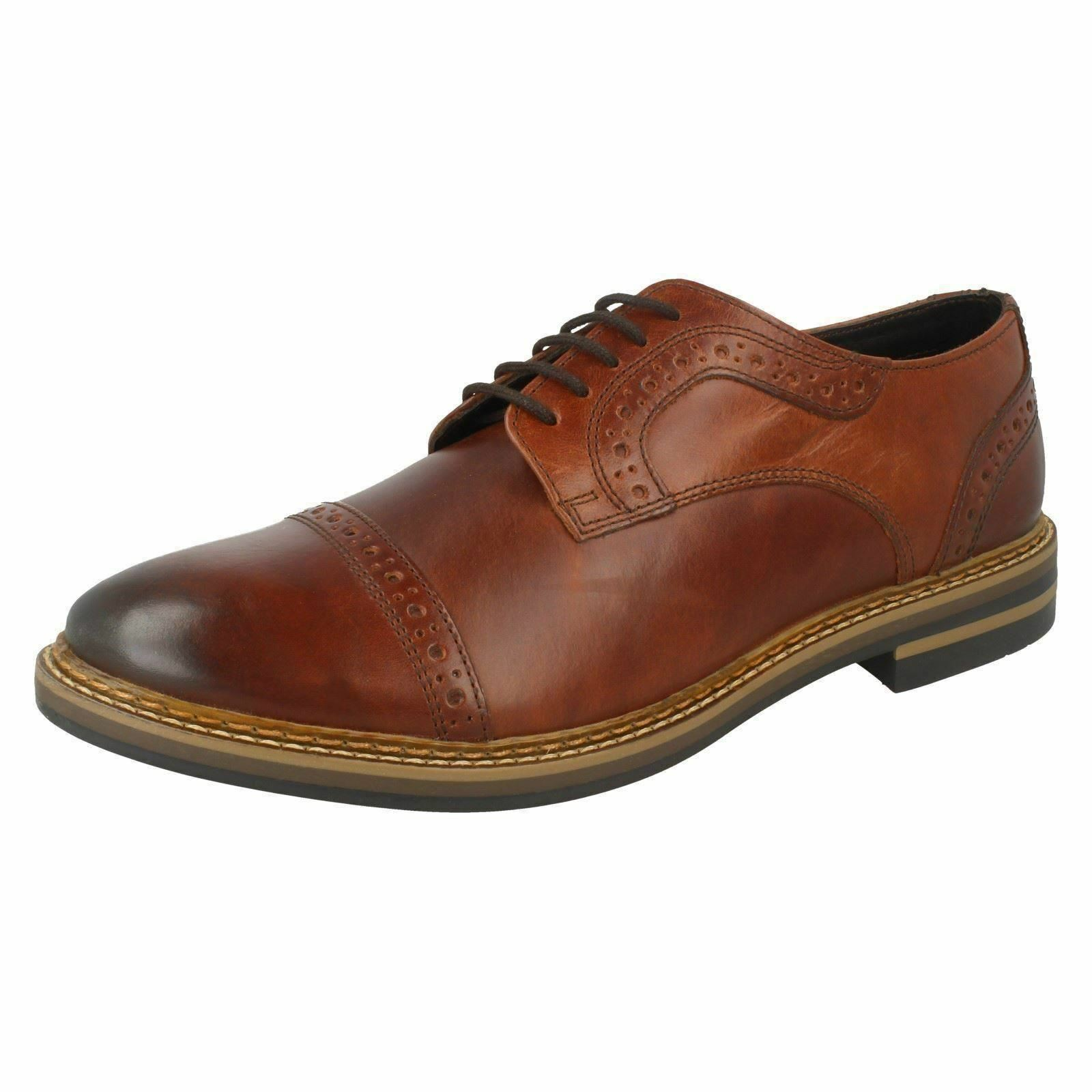 BUTLER BASE LONDON MENS LACE UP SMART braun LEATHER BROGUES FORMAL OXFORDS schuhe
