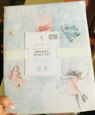 Pottery Barn Kids Celeste Fairy Organic Full Sheet Set NWT