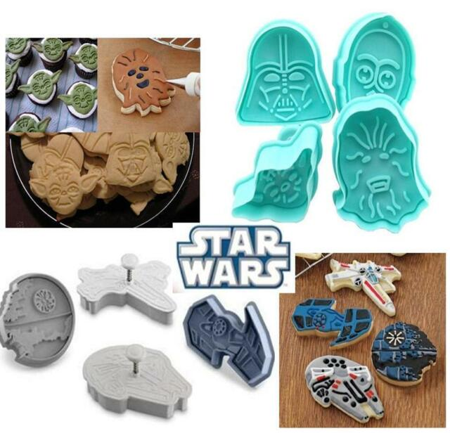 Star Wars Cookie Plunger Cutter Set Face Push Press Biscuit Maker Fondant Cake