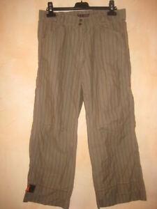 Pantalon pantacourt COP COPINE gervais marron TBE # 36