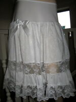 Lolita White Black Lace Petticoat Skirt Lagenlook Hippy Boho Goth Party