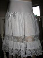 Lolita White Black Lace Petticoat Skirt Lagenlook Hippy Boho Goth Party