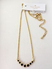 NWT $58 Kate Spade Dainty Sparklers Pendant Necklace Black
