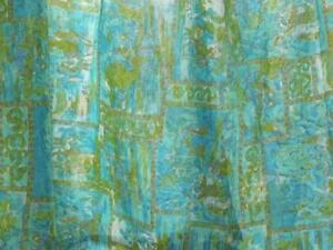Blue-amp-Green-TOILE-Sheer-Polyester-Blend-SOPTRA-Fabrics-3-yds-x-42-034-w