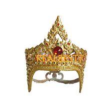 Premium Original Chada Thai Dancer Head Band Crown Jeweled /& Gold Leaf CLA207