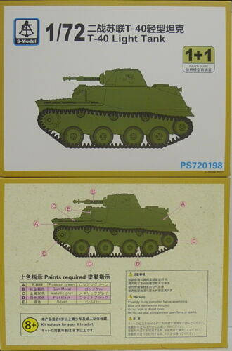 1//72 Leichter Panzer T-40 Plastik mit Ätzteilen NEU, S-Model Doppelpack