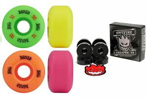 Bones-Wheels-100-039-s-OG-Multi-Colour-52mm-V1-Spitfire-Skateboard-Bearings