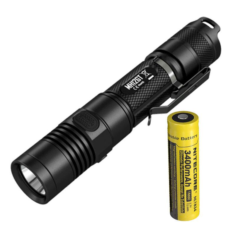 Nitecore MH12GT 1000 LuPour des hommes Cree XP-L HI V3 LED USB Rechargeable Flashlumière