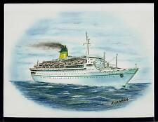 Original Art Work... ss GALILEO GALILEI...Lloyd Triestino... Ocean Liner