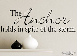 Anchor Wall Decal Vinyl Art Lettering Graphic Family Sticker Decor